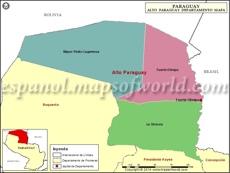 Mapa de Alto Paraguay