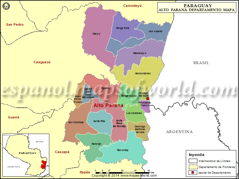 Mapa de Alto Parana