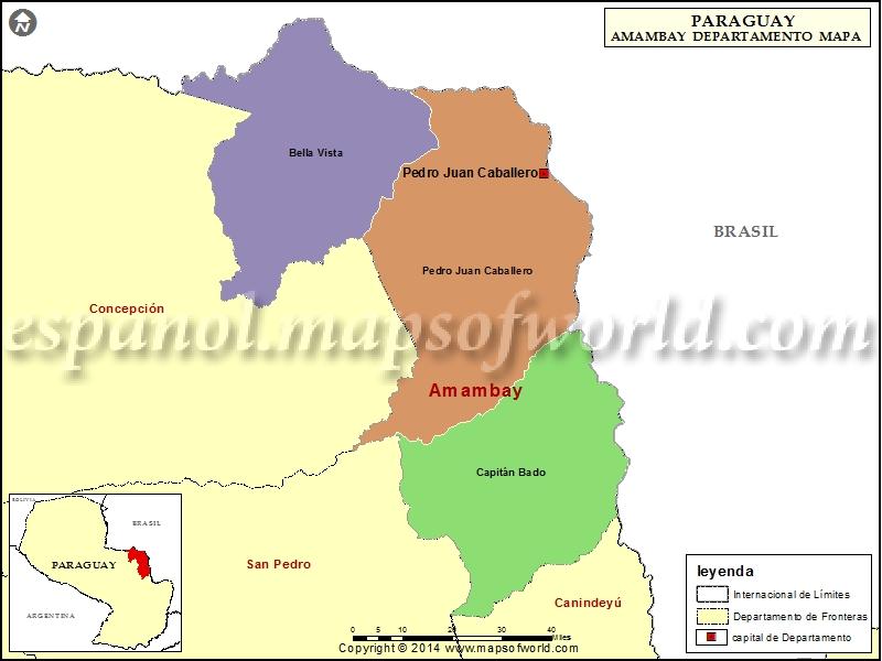 Mapa de Amambay