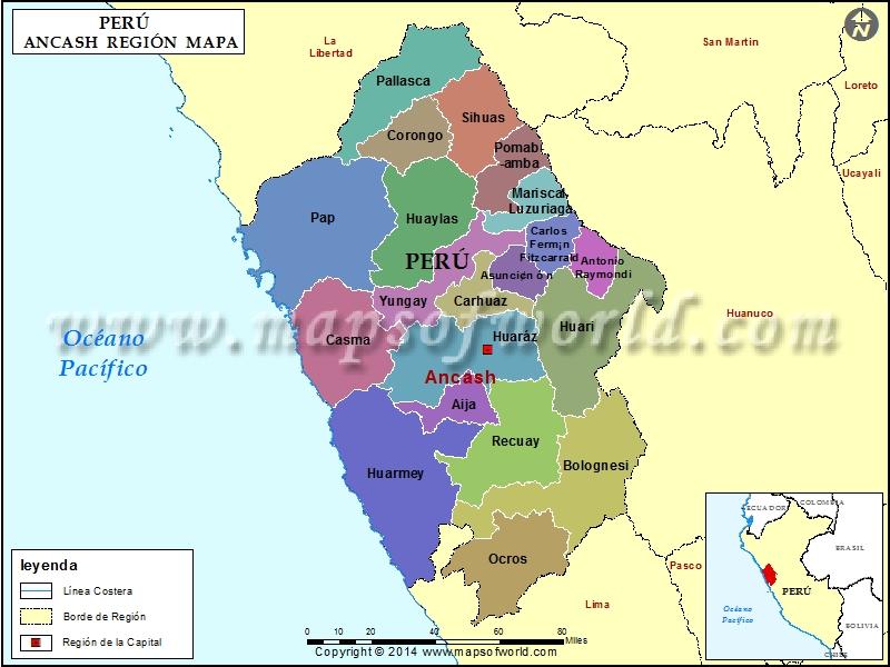 Mapa de Ancash