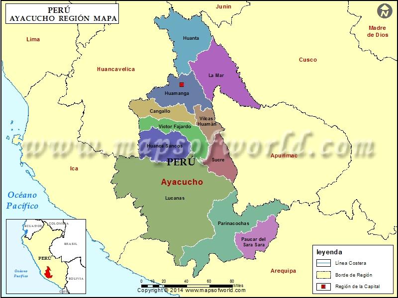 Mapa de Ayacucho