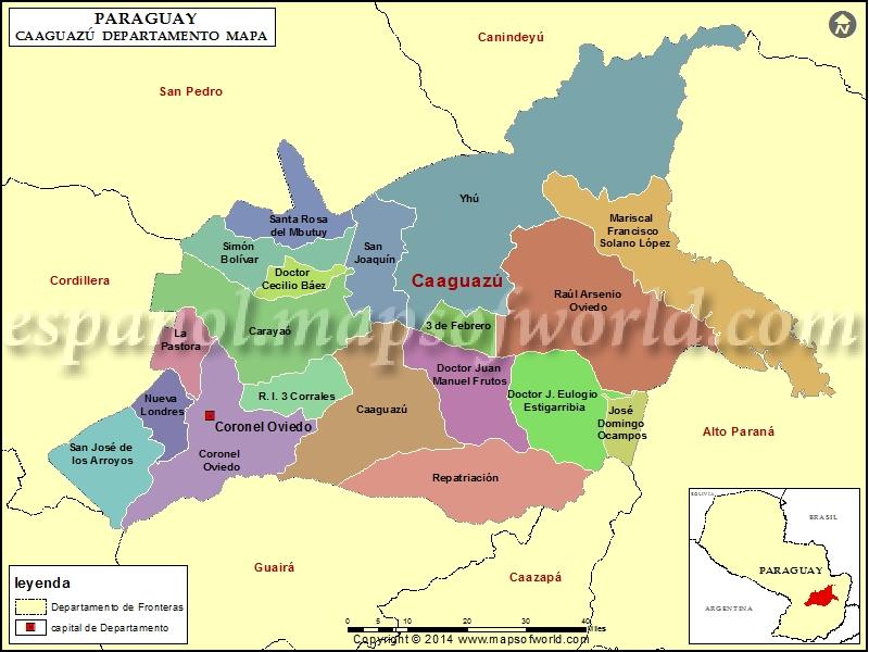 Mapa de Caaguazu