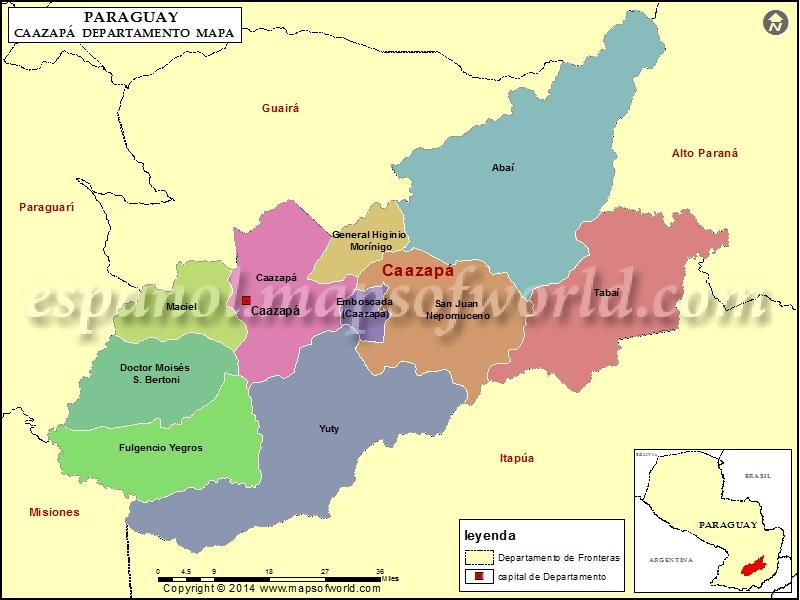 Mapa de Caazapa