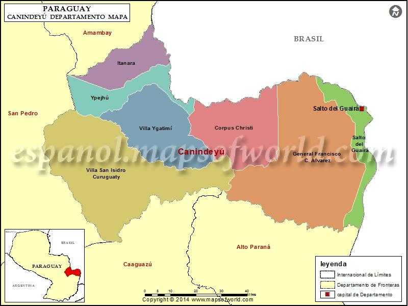 Mapa de Canindeyu