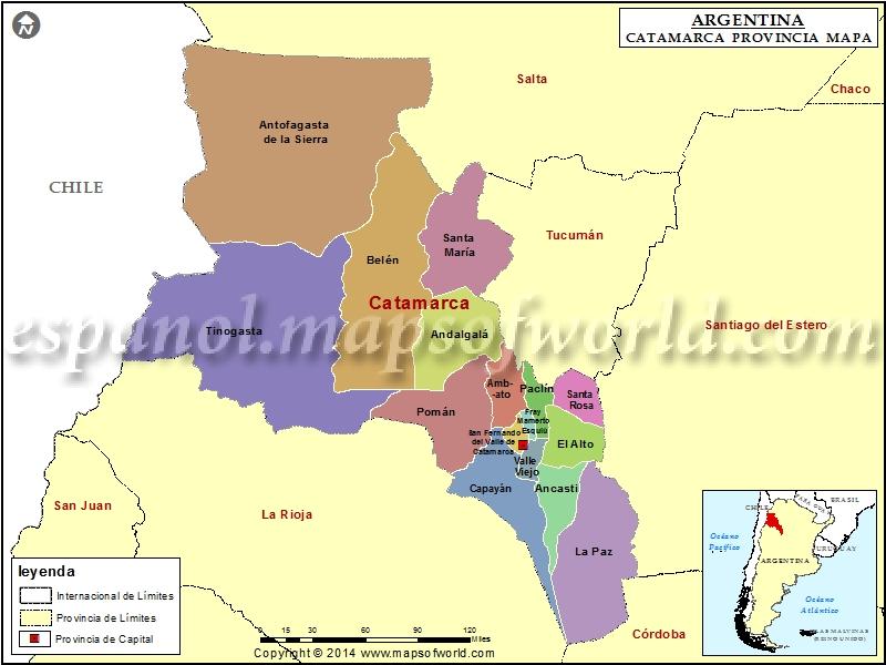 Mapa de Catamarca