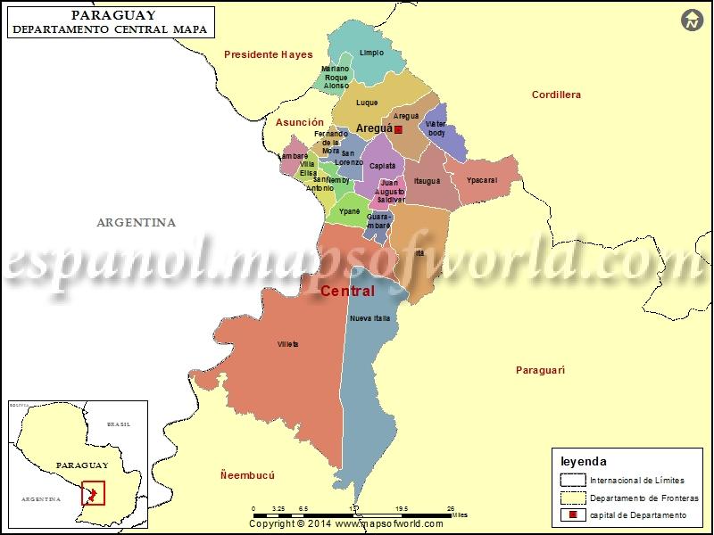 Mapa de Central Paraguay