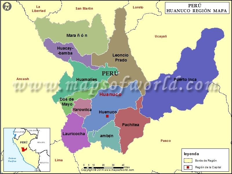Mapa de Huanuco