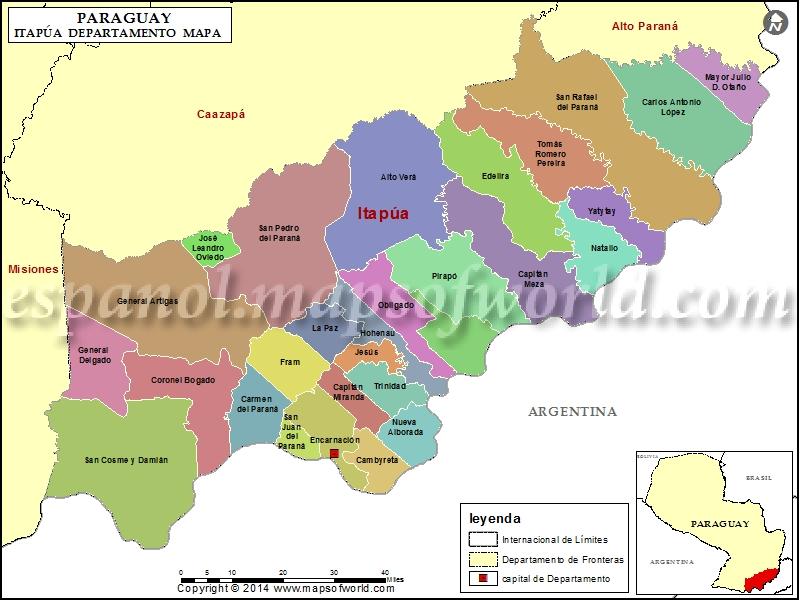 Mapa de Itapua