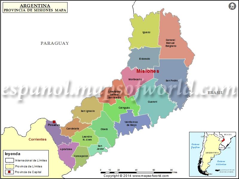Mapa de Misiones