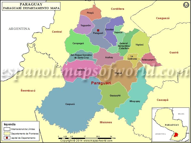 Mapa de Paraguari