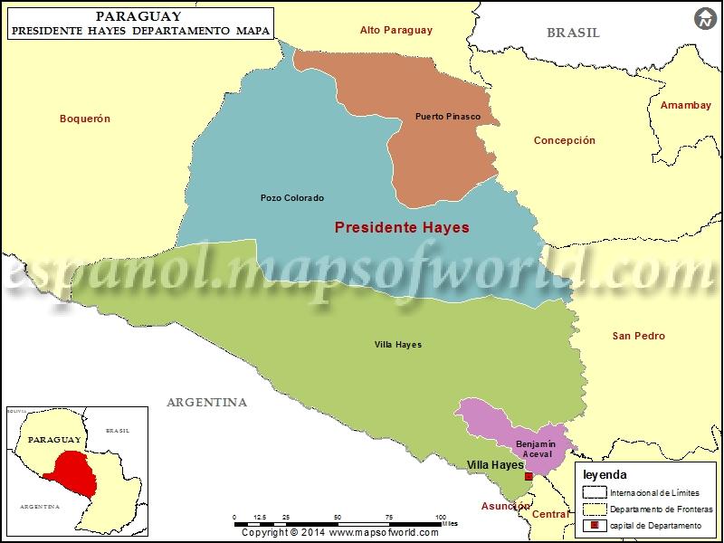 Mapa de Presidente Hayes