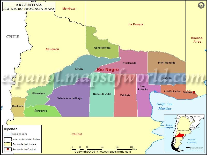 Mapa de Rio Negro