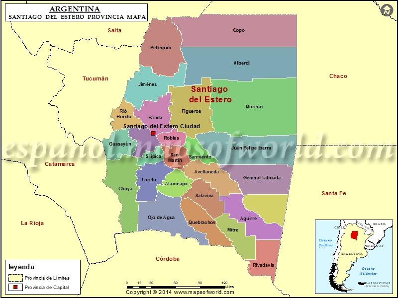 Mapa de Santiago del Estero