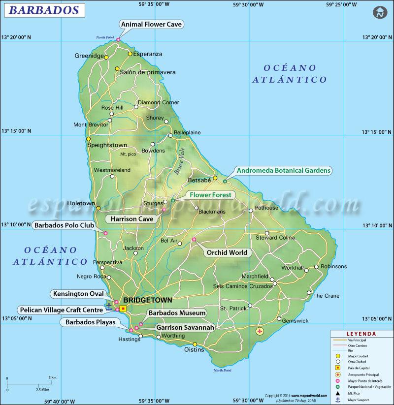Mapa Político de Barbados
