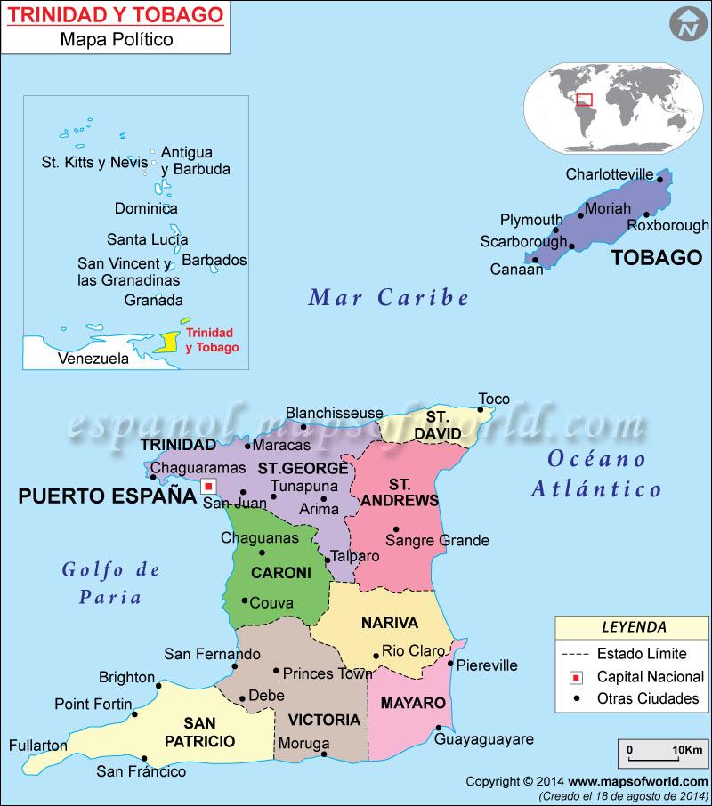 Trinidad y Tobago Mapa