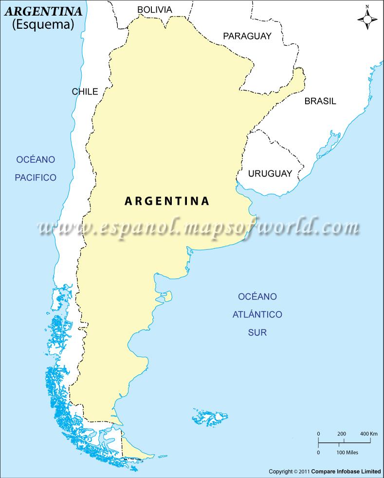 Esquema del Mapa de Argentina