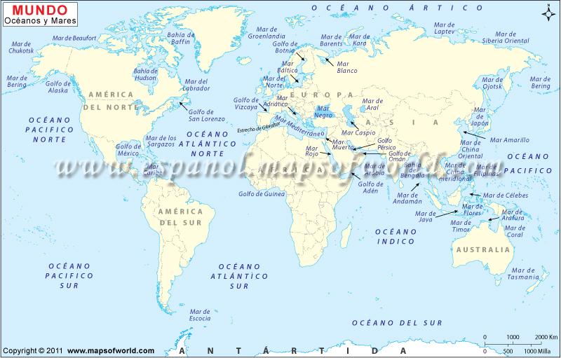 Mapa de Mundo Marino