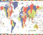 Mapa de la zona horaria mundial