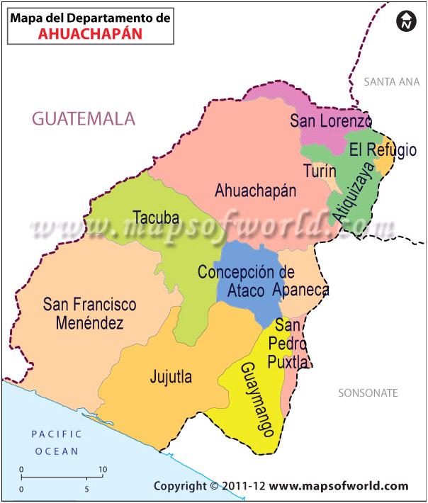 Mapa de Ahuachapan