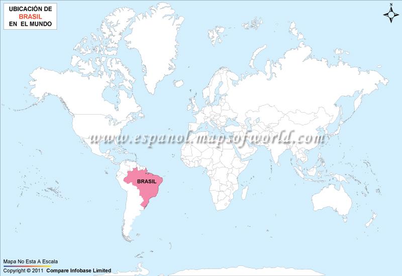 Mapa de Ubicacion de Brasil