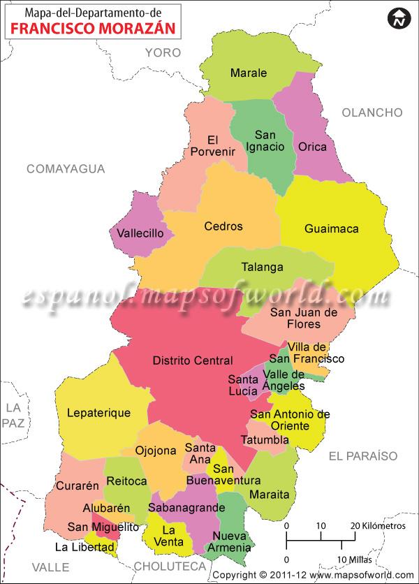 Mapa De Honduras Con Municipios