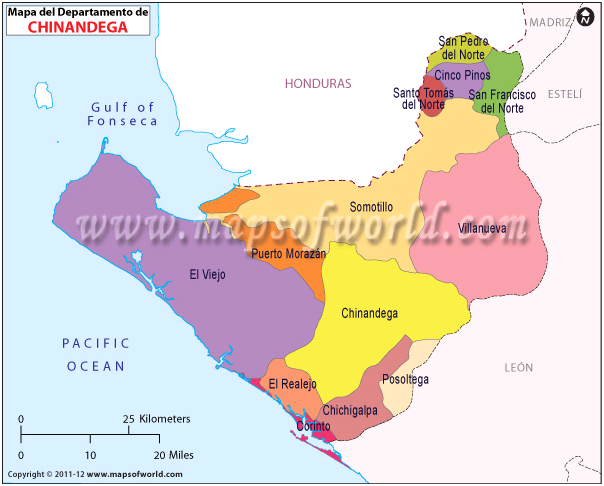 Mapa de Chinandega