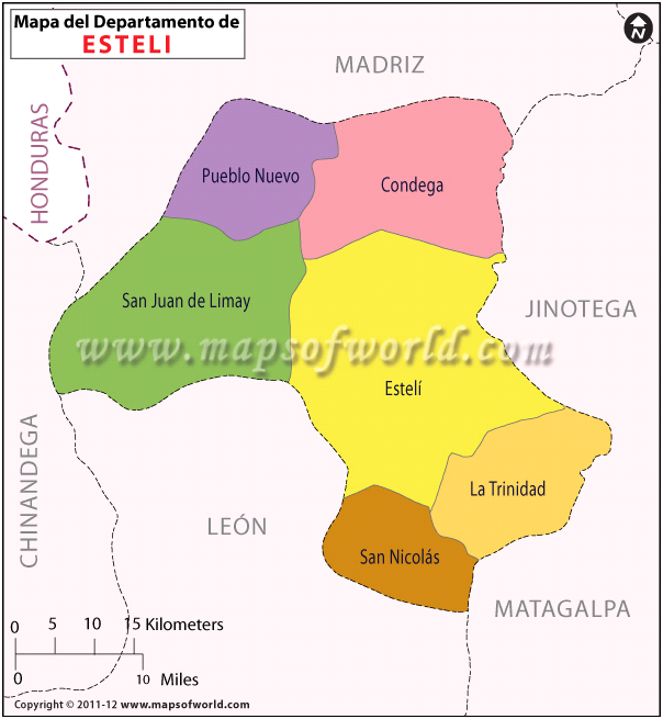 Mapa de Esteli