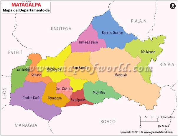Mapa de Matagalpa