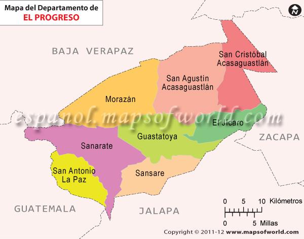 Mapa de El Progreso
