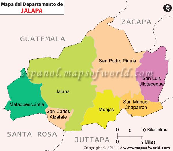 Mapa de Jalapa