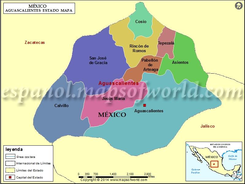 Mapa de Aguascalientes