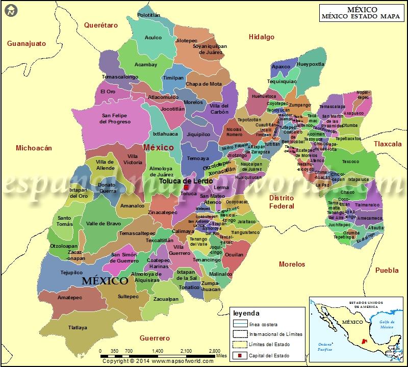Mexico Estado Mapa