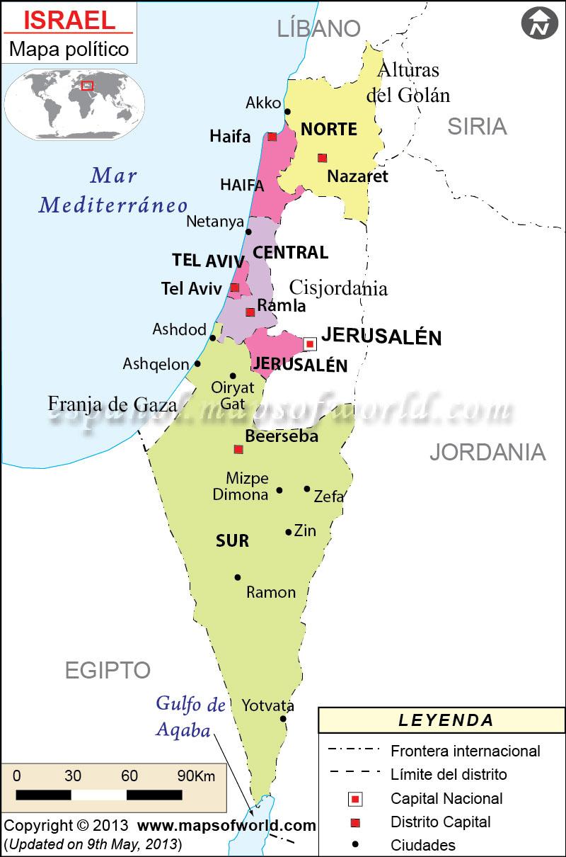 Israel Mapa | Mapa de Israel