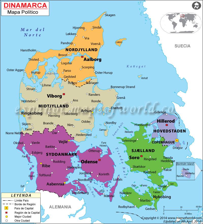 Dinamarca Mapa