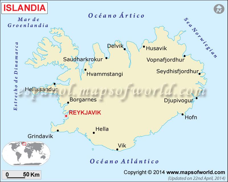 Islandia Mapa