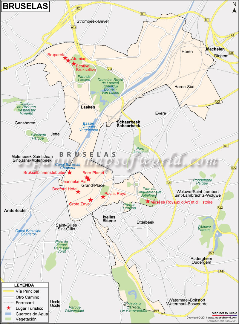 Mapa Bruselas