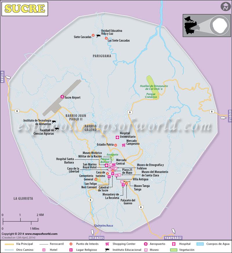 Mapa de Sucre