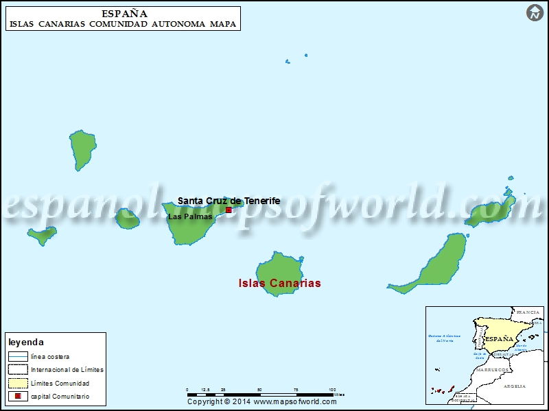 Islas Canarias Mapa