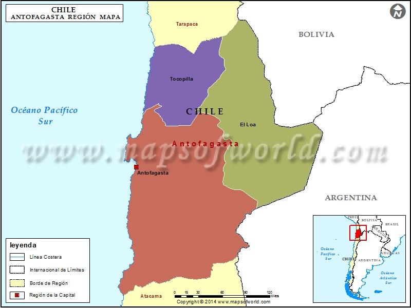 Mapa de Antofagasta