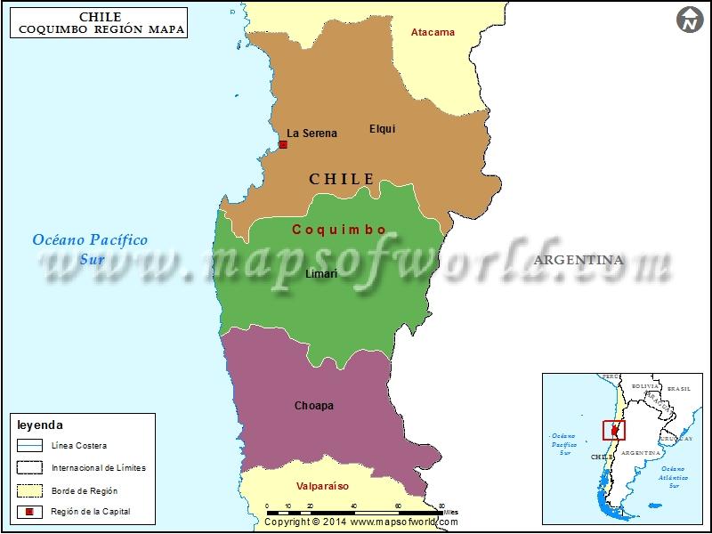 Mapa de Coquimbo