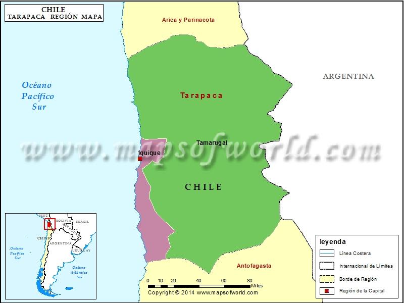 Mapa de Tarapaca