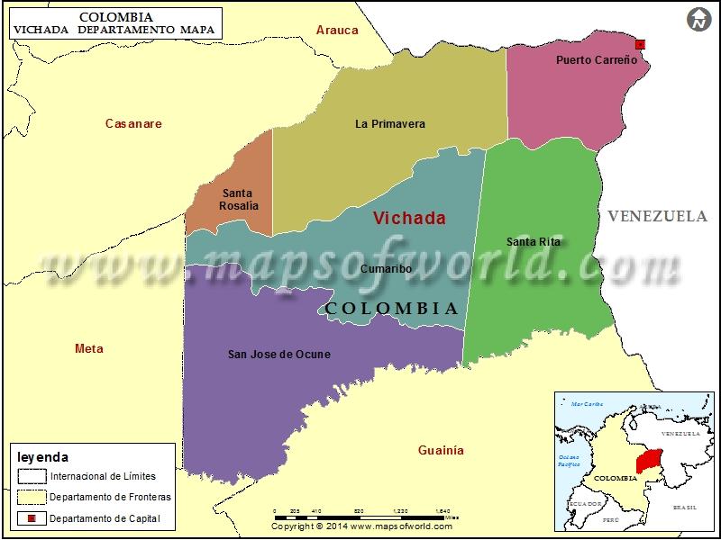 Mapa de Vichada