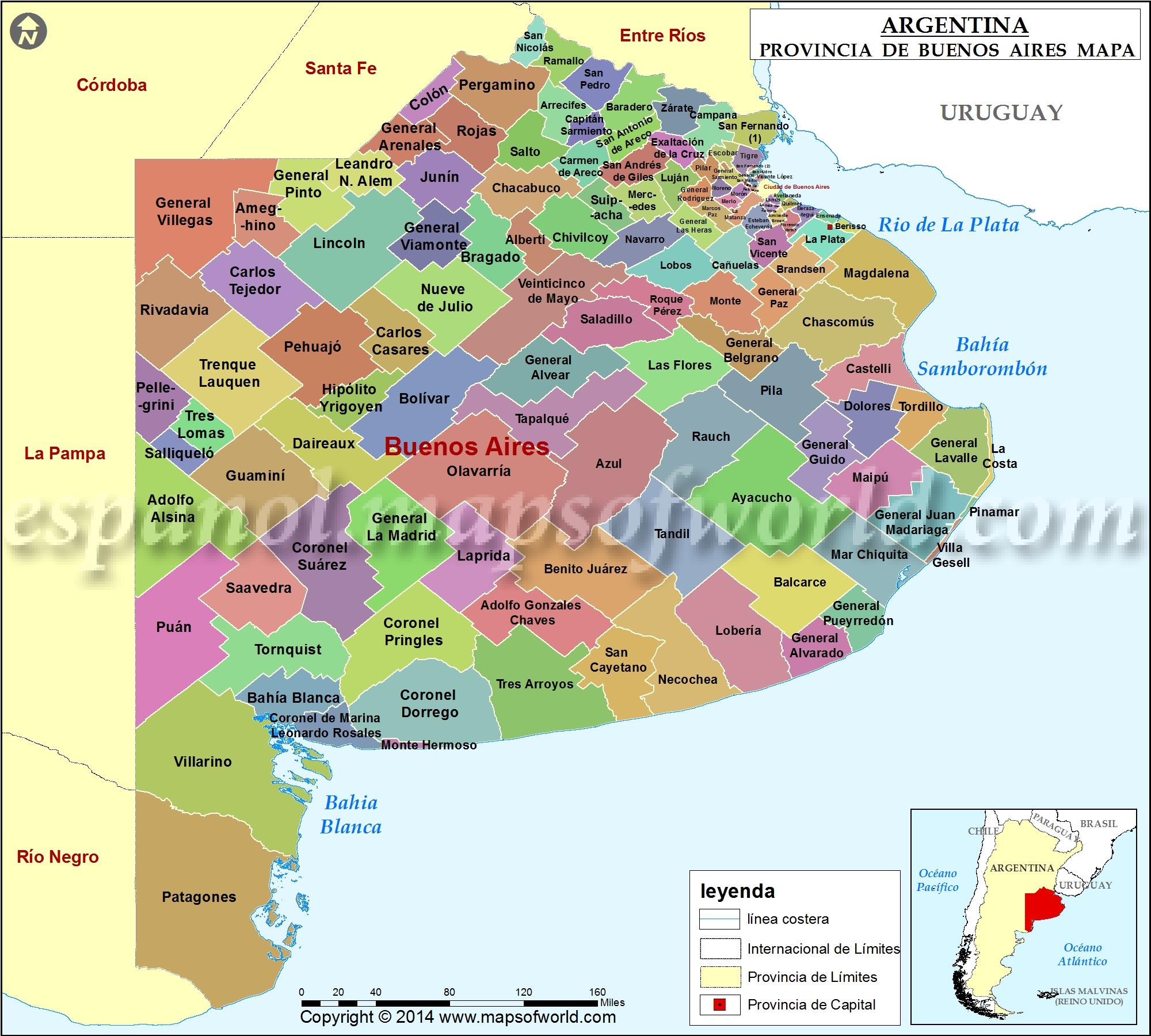 Mapa de la Provincia de Buenos Aires , Provincia de Buenos Aires ...