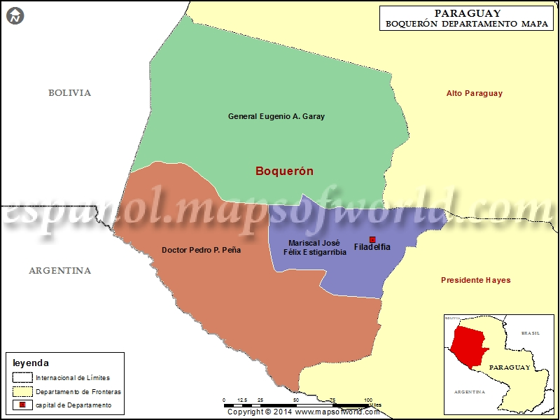 Mapa de Boqueron