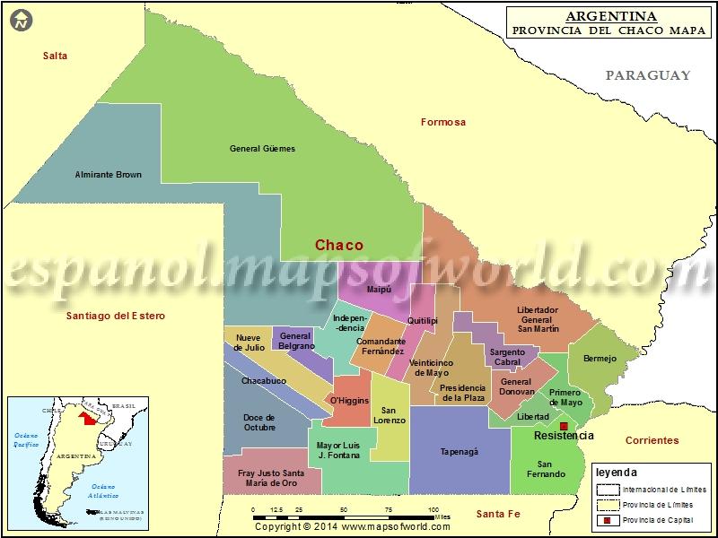 Mapa del Chaco
