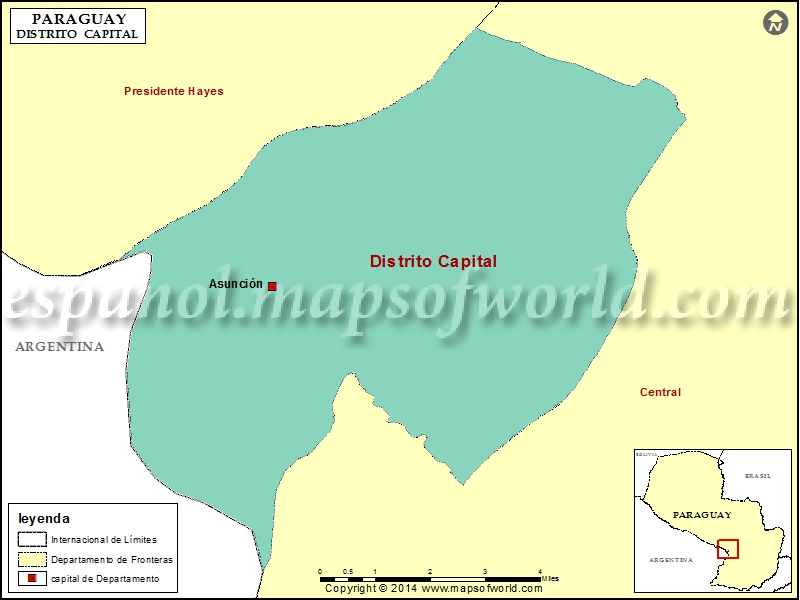 Mapa del Distrito Capital Asuncion