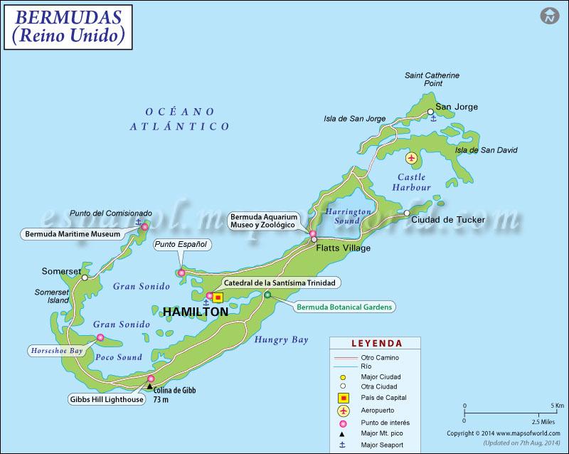 Mapa de Bermudas