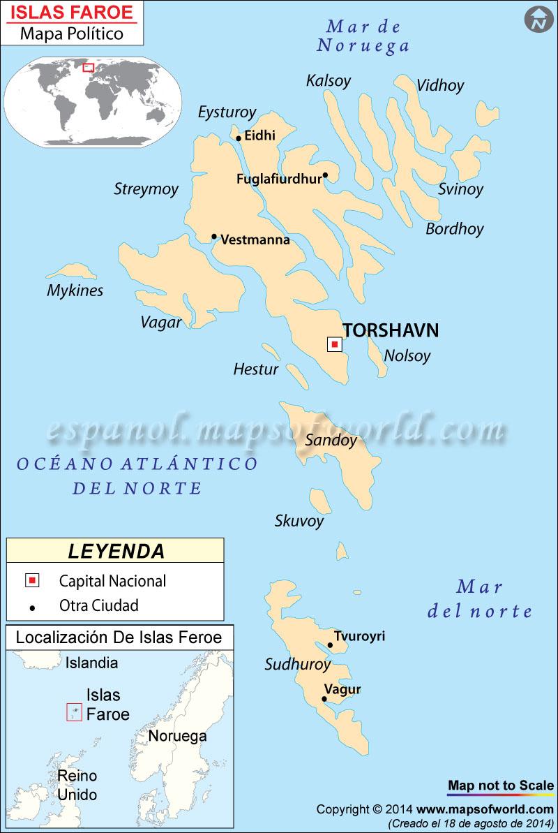 Islas Feroe mapa