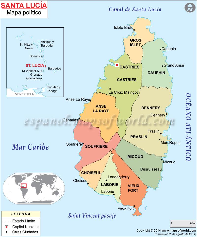 Santa Lucía Mapa